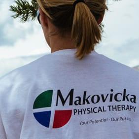 Girl wearing Makovicka t-shirt