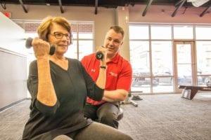 Flexing to show strength