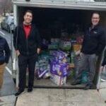 Josh, Joel, Jeff and Jon with 25,104 diapers